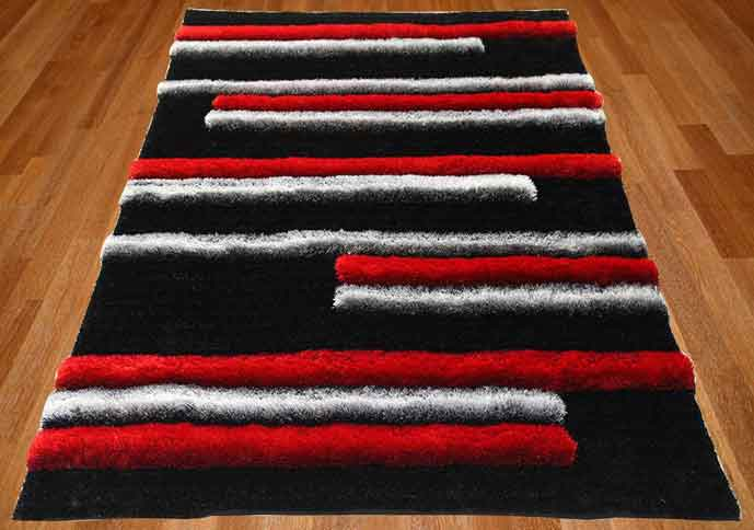 florida line red & black rug
