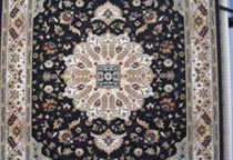 traditional black rug in Perth